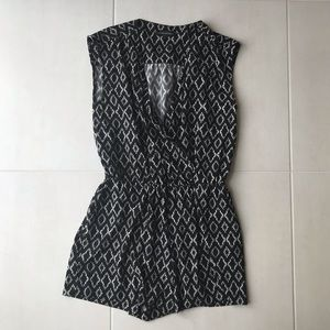 Banana Republic Print Stretch Shorts Romper SH70